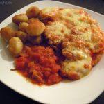 Überbackene Kalbsschnitzel mit Gnocchis