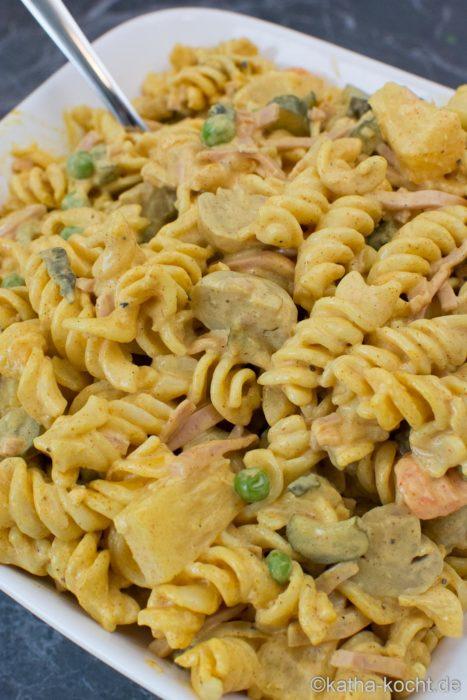 Curry Nudelsalat - Retro Nudelsalat