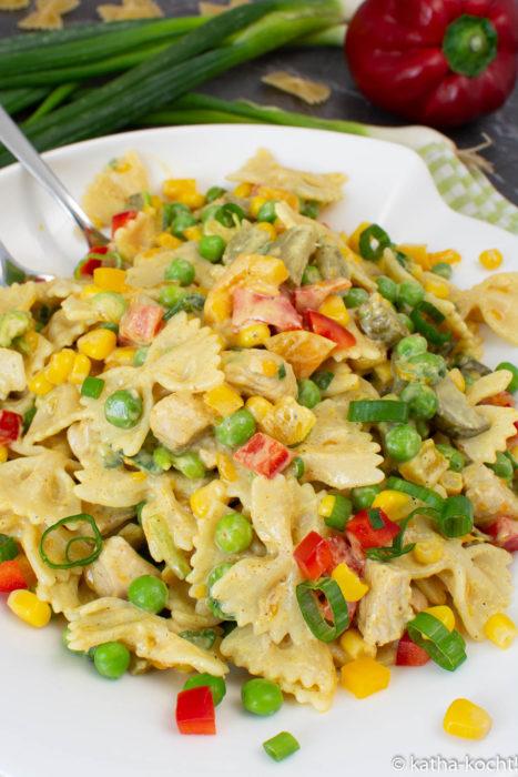 Puten-Curry Nudelsalat - ein leichter Nudelsalat