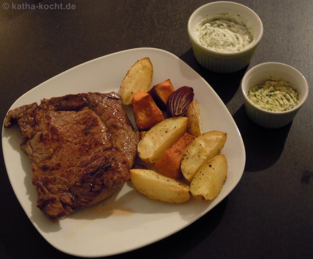 SteakMitKürbisKartoffelspalten