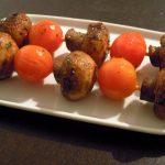 Tapas – Champignon-Tomaten-Spieße