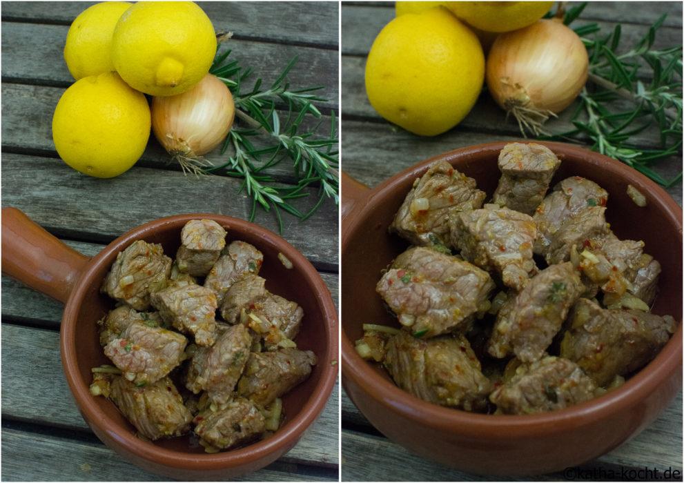 Tapas - Zitronen-Rindfleisch