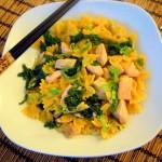 Thai Pasta mit Lachs und Kokosmilch