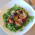 Warmer Birne-Pancetta Salat mit Senf-Dressing