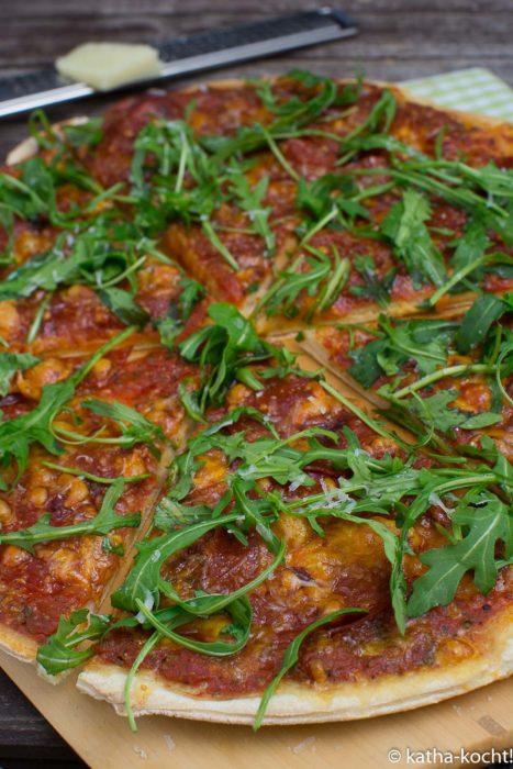 Chorizo-Rucola Pizza