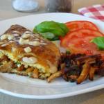 Omelett mit Pfifferlingen und Speck