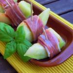 Tapas – Melone mit Parmaschinken