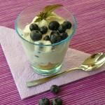 Heidelbeer-Mascarpone Trifle im Glas