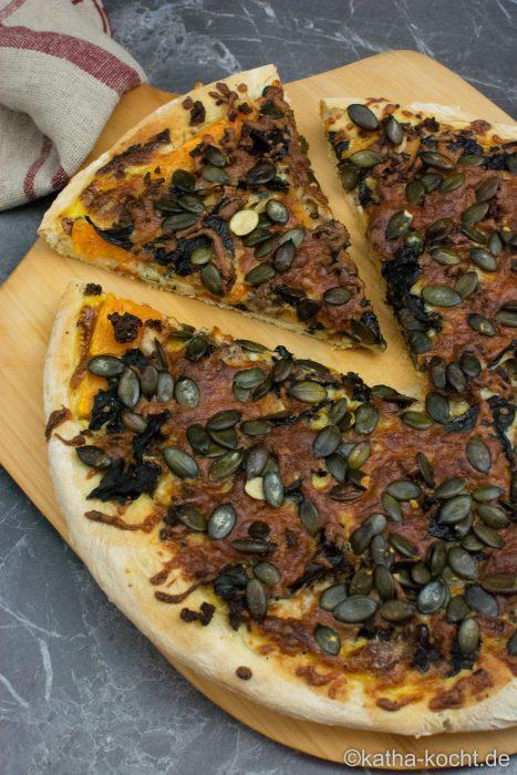 Halloween Pizza - Kürbis Pizza