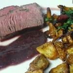 Rinderfilet mit Feigen-Rotweinsauce und Pfifferlingen