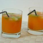 Aperol-Spritz auf Orangenbasis mit Koriander