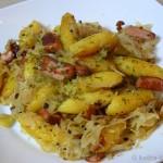 Schupfnudel-Pfanne mit Sauerkraut