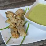 Mangold-Ziegenkäse Suppe mit Welsfilet