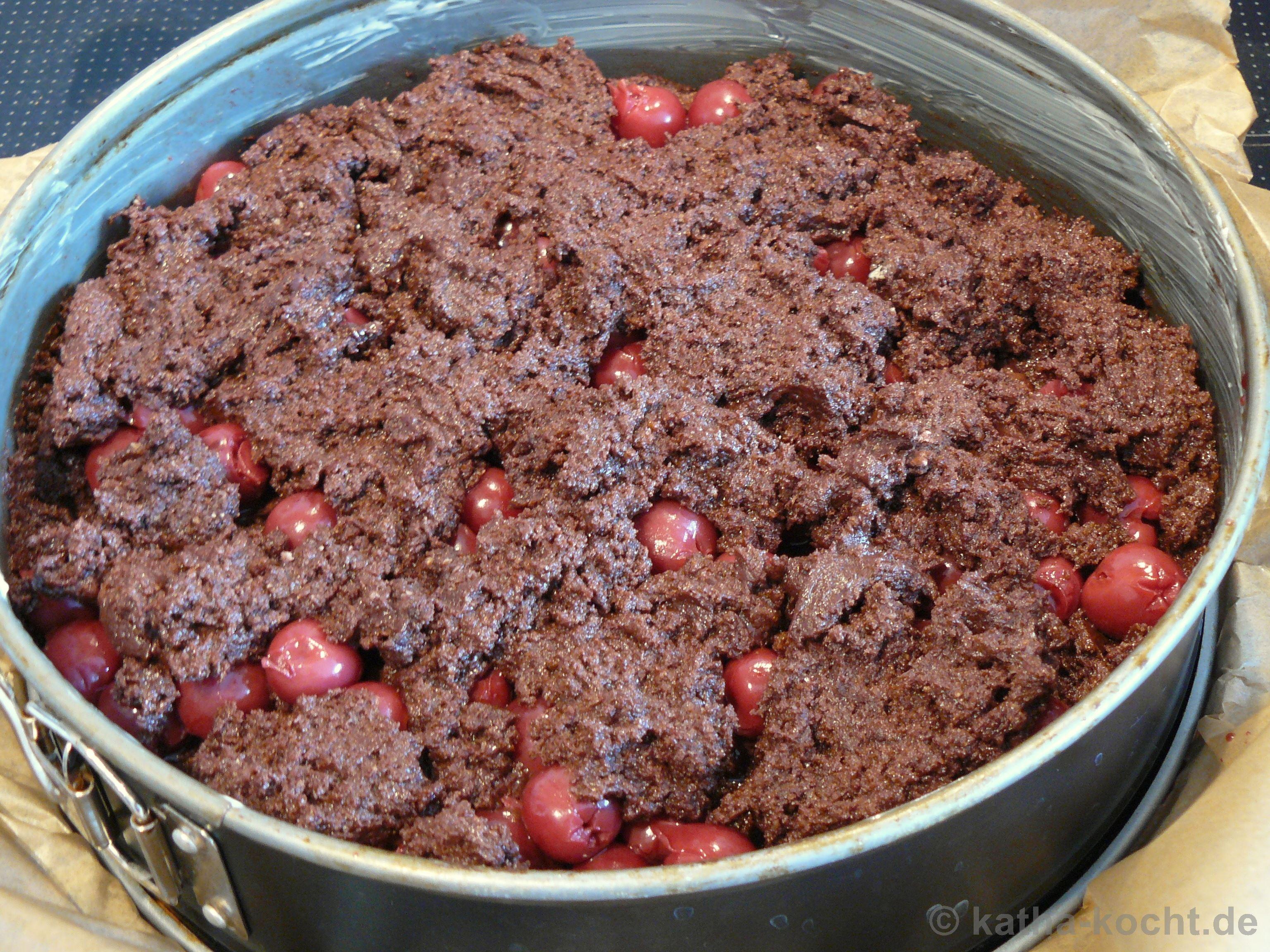 Schoko kirsch kuchen kleine form