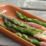 Tapas - Grüner Spargel mit Bacon