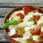 Tapas - Kabeljau mit Tomate und Büffelmozzarella