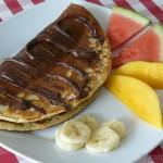 Eier- / Pfannkuchen mit Schoko-Bananenfüllung