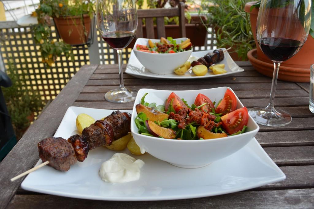 Pflaume_Rind_Grillspieße_und_passender_Salat_6