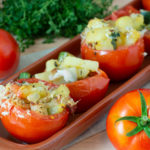 Tapas – Gefüllte Tomaten mit Kartoffel, Zucchini und Speck