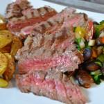 Entrecôte mit warmem Champignon-Salat