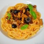 Spaghetti Arrabiata mit Schweinefilet