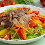 Bunter Gänsesalat - Salat mit Resten vom Gänsebraten