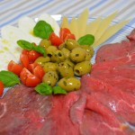 Rindercarpaccio meets Büffelmozzarella