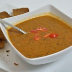 Puy-Linsen Suppe mit Karotten und Orangensaft