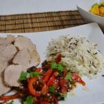 Schweinefilet asiatisch mit Avocado-Mango Salat