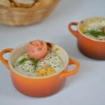 Eier im Näpfchen mit Lachs
