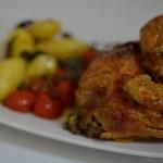 Salbei Brathähnchen und Lavendel-Butter