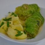 Schnelle Wirsing-Roulade mit Kartoffeln