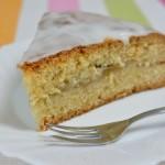 Gedeckter Apfel-Rhabarber Kuchen