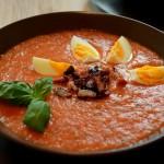 Salmorejo mit gebackenen Tomaten