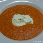 Tomatensuppe mit Burrata