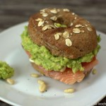 Lachs-Avocado Bagel