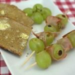 Weintrauben-Schinken Spieße
