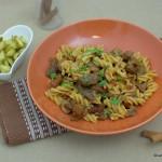 Gulasch Pasta mit Rind und Pilzen