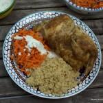 Marokkanisch gewürztes Brathähnchen mit Couscous