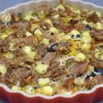 Bunte Ofenpasta mit Pancetta