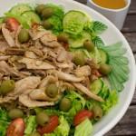 Couscous Salat mit Orangen-Hähnchen