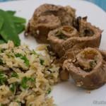 Kalbsroulade mit Steinpilzen und Butter-Reis