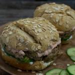 Ein Bärlauch-Roggen Burger für Lieferheld