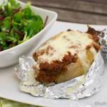 Überbackene Bolognese Kartoffel