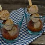 Partyhäppchen - Currywurst im Glas