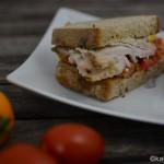 Sommerliches Spanferkel Sandwich