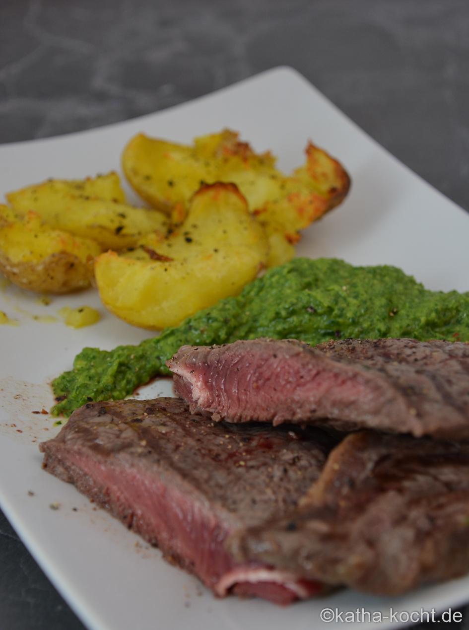 steak mit kalter avocado rucola creme katha kocht. Black Bedroom Furniture Sets. Home Design Ideas