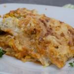 Fisch Lasagne mit Zucchini und Tomatensauce