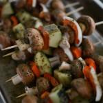 Grillmarinade – Rosmarinmarinade für Gemüsespieße