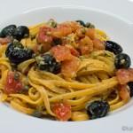 One Pan Pasta mit Sardellen und Estragon